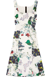 Tate floral-print tech-jersey dress