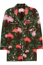 Ray floral-print silk-satin blouse