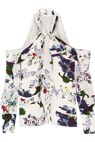 Erdem - Aila Pussy-bow Cutout Silk Crepe De Chine Blouse - White