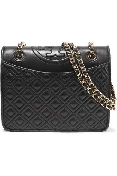 e6b37931402 Tory Burch | Fleming medium quilted leather shoulder bag | NET-A ...