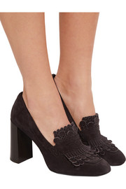 Tod's Fringed suede pumps