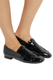 Tod's Fringed patent-leather loafers