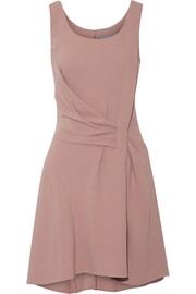 Draped crepe mini dress