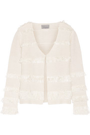 Fringed crocheted silk jacket