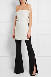 Grace split crepe flared pants
