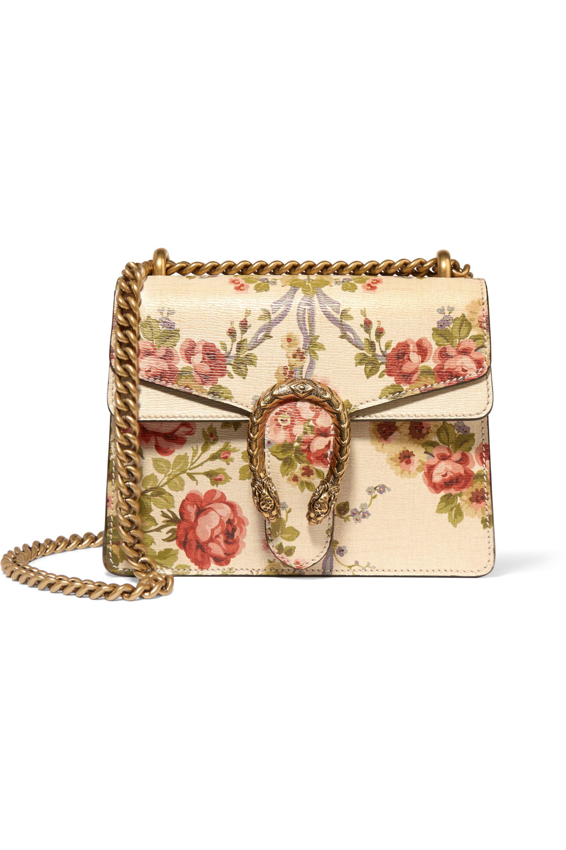 Gucci for NET-A-PORTER Dionysus mini floral-print leather shoulder bag