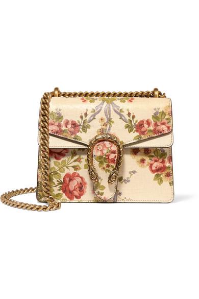 1c035abe00a Gucci For Net A Porter Dionysus Mini Fl Print Leather Shoulder Bag