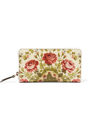 Gucci for NET-A-PORTER Linea A Shanghai floral-print leather wallet