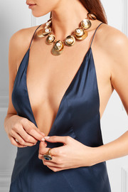 Oscar de la Renta Gold-plated faux pearl necklace