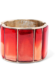Oscar de la Renta Gold-plated resin cuff