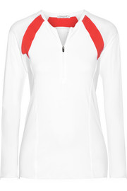 L'Etoile Sport Paneled stretch-jersey top