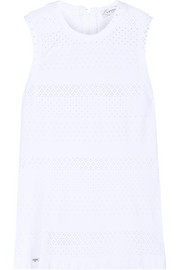 L'Etoile Sport Perforated stretch-lace tennis top