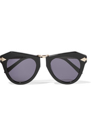 One Orbit round-frame acetate and gold-plated sunglasses