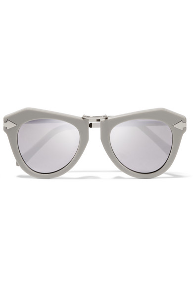 ed68a2bb65ff Karen Walker. One Orbit round-frame acetate and silver-plated mirrored  sunglasses