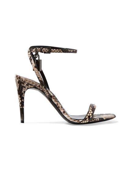 TOM FORD - Python Sandals - Snake print