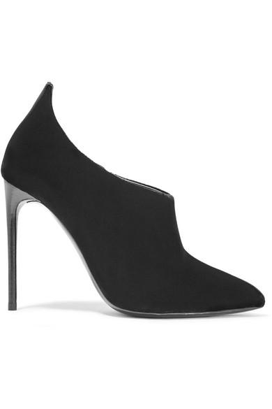 TOM FORD - Velvet Ankle Boots - Black