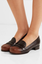Bottega Veneta Ombré intrecciato leather loafers