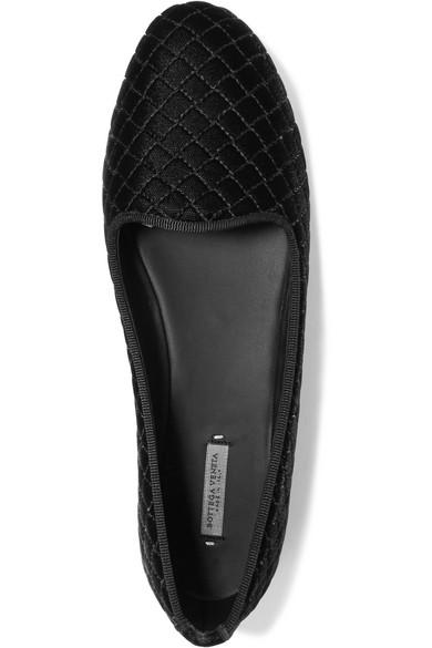 Bottega Veneta Bestickte Slippers aus Samt