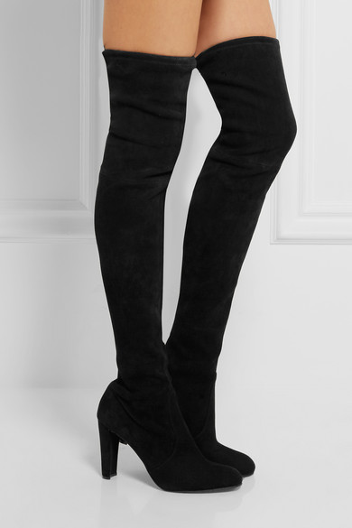 Stuart Weitzman | Highland stretch-suede over-the-knee boots | NET ...