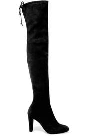Highland stretch-suede over-the-knee boots