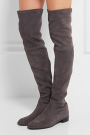 Lowland suede over-the-knee boots