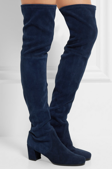 c039d95b286 Stuart Weitzman. Hinterland stretch-suede over-the-knee boots