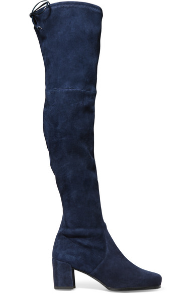 Stuart Weitzman | Hinterland stretch-suede over-the-knee boots ...