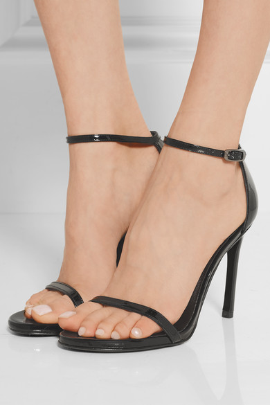 Stuart Weitzman Nudistsong Patent Leather Sandals shopping online for sale Z1M42GQr