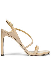 Sensual patent-leather sandals