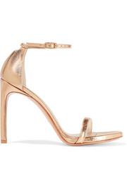 NudistSong metallic leather sandals
