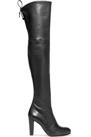Highland leather over-the-knee boots
