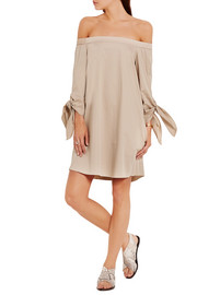 Tibi Off-the-shoulder cotton-crepe mini dress