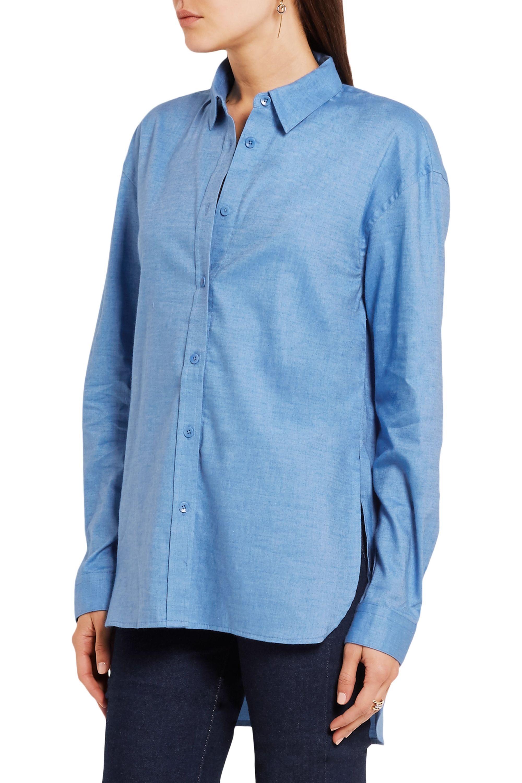 Tibi Stretch-cotton chambray shirt