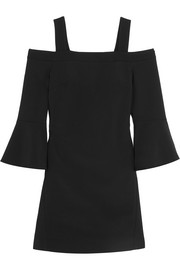 Tibi Cutout faille mini dress