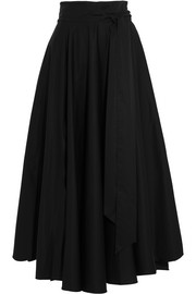 Tibi Obi cotton-crepe maxi skirt
