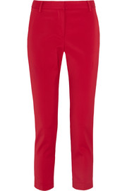 Tibi Beatle cropped stretch-faille tapered pants
