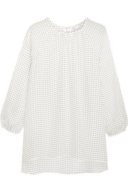 Tibi Printed silk top