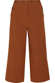 Tibi Sailor Nerd cropped stretch-crepe wide-leg pants
