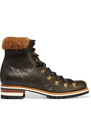 Hamilton shearling-trimmed leather boots