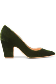 Pierrot velvet point-toe pumps