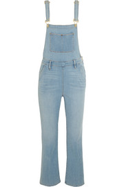 Antibes cropped stretch-denim overalls