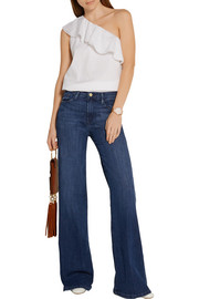 Frame Denim Le Capri high-rise wide-leg jeans