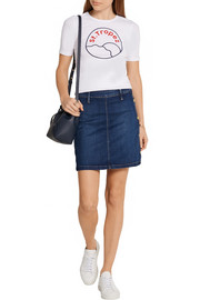 Frame Denim Antibes stretch-denim mini skirt