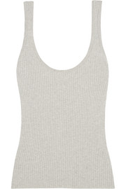 Frame Le Rib cotton, silk and cashmere-blend tank