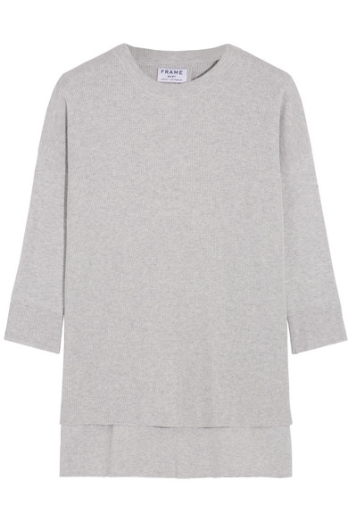 FRAME | Le Boxy cotton, silk and cashmere-blend sweater | NET-A ...