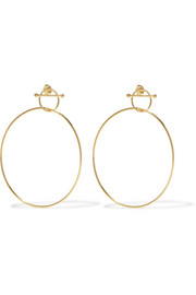 Swing gold-plated earrings