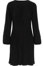 Pleated stretch-crepe dress