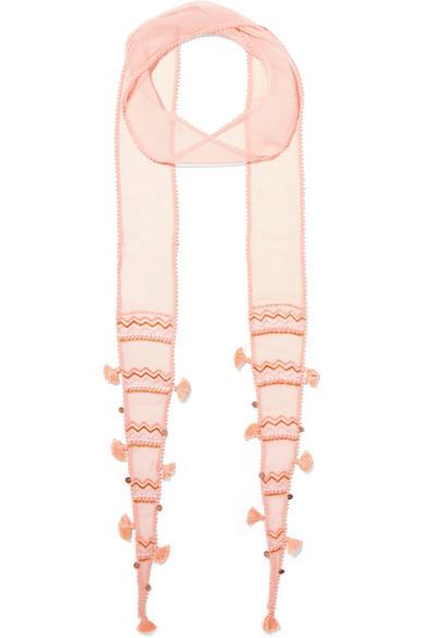 chan luu female chan luu embellished chiffon scarf blush