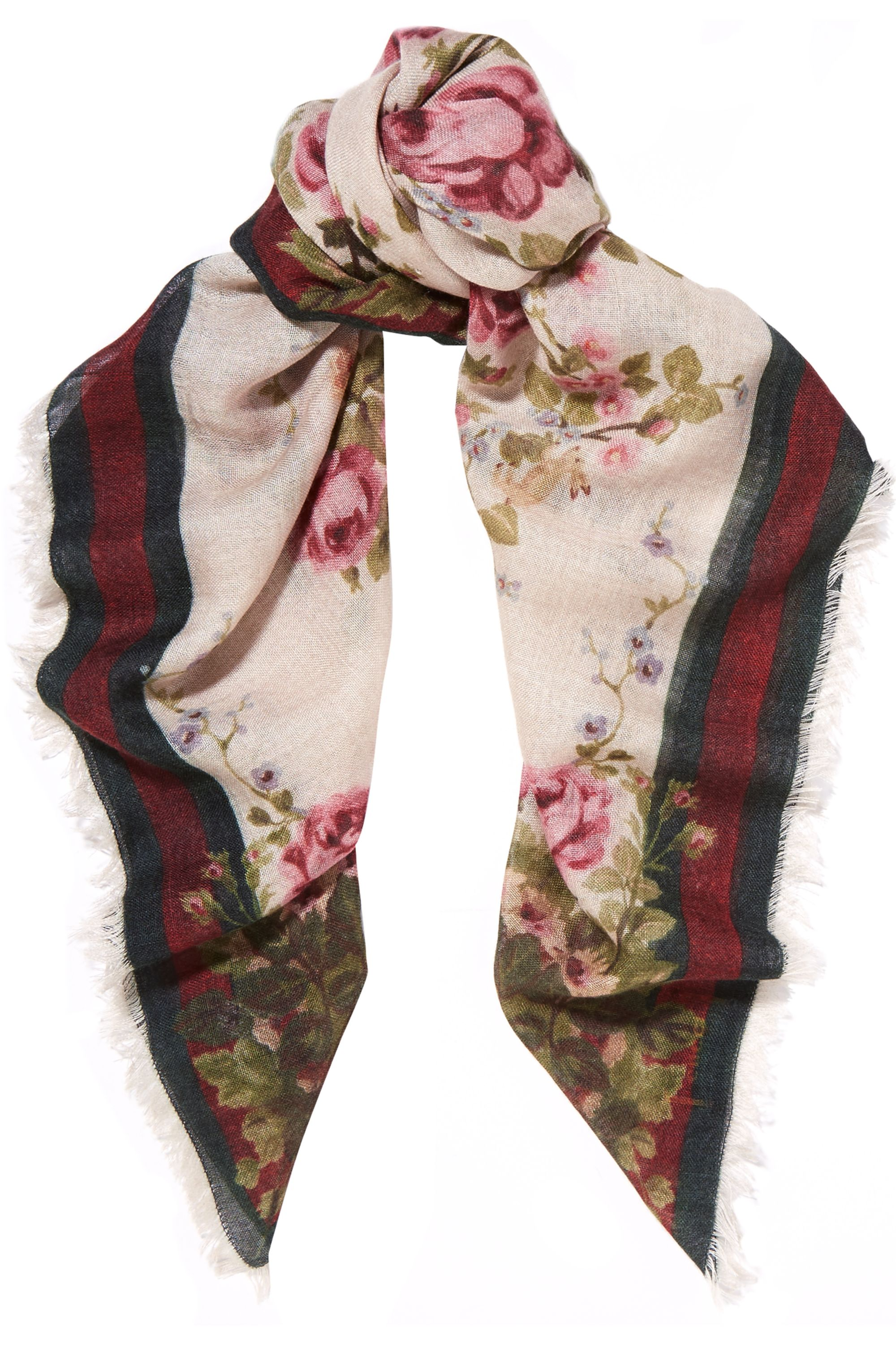 Gucci for NET-A-PORTER Adonis floral-print cashmere and silk-blend scarf