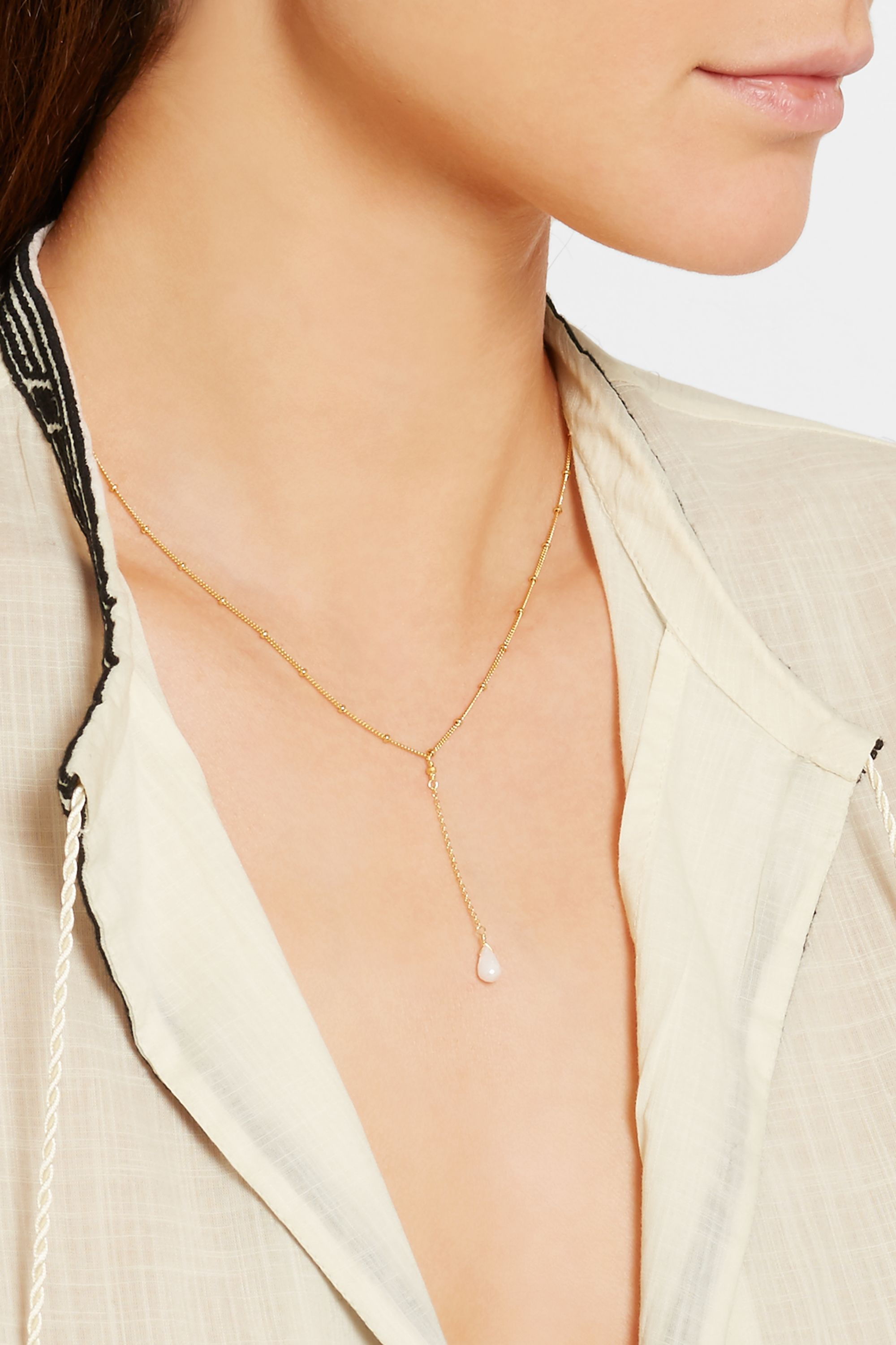 Chan Luu Gold-plated silverite necklace